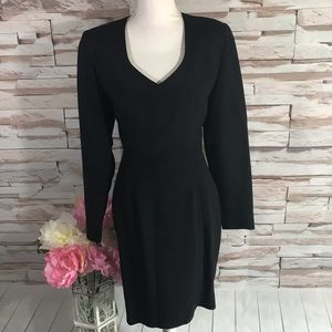 Nicole Miller Black Dress Sz 8 (Q13)